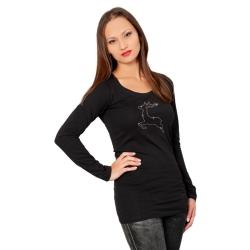 Langarm-Shirt Silberhirsch